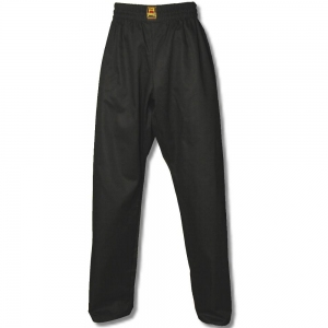 Spodnie treningowe poliester/bawełna czarne