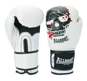 Rękawice bokserskie ALLRIGHT SKULL białe