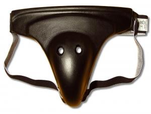 Ochraniacz krocza z podprzuszem piankowy czarny