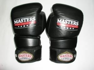Rękawice bokserskie Masters RBT-E czarno-białe